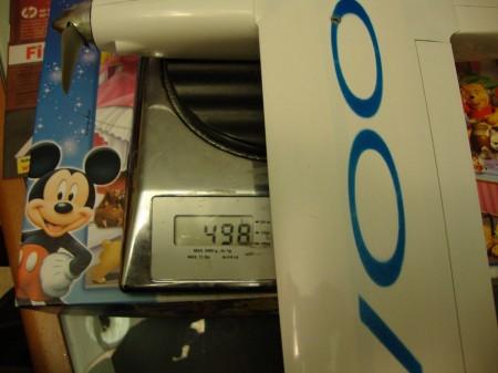 El Voodoo pesa 499g en orden de vuelo.