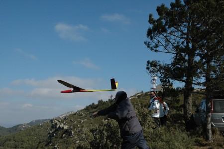 Daniel Portella inicia un vuelo con el Miraj.