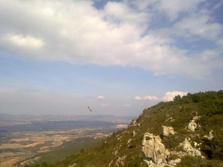 El Ocelot-I en la ladera alternativa. (Foto desde el móvil)